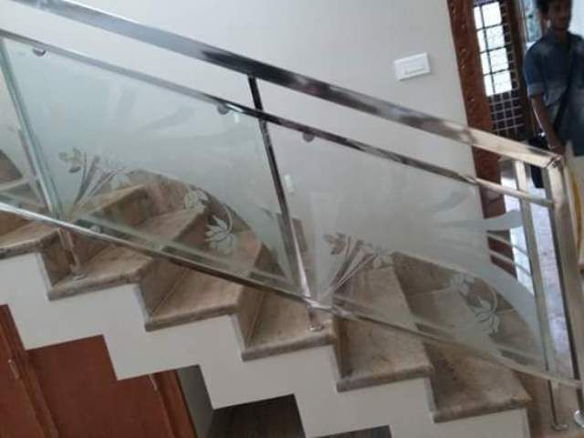 Best Cost Of Stainless Steel Handrail Works Kochi Kerala Ernakulam Stair Railing Design 400 x 300