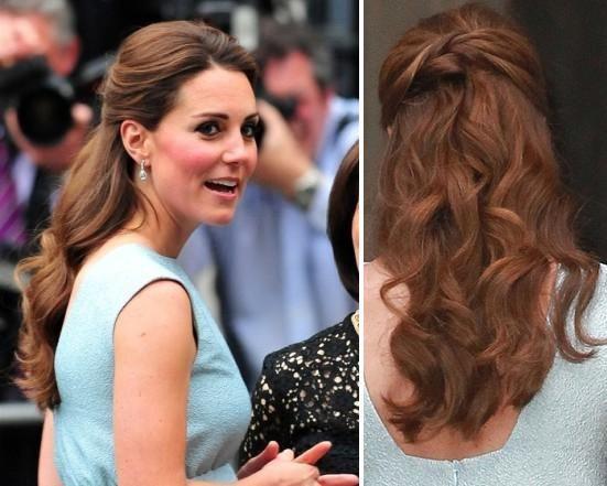 Wedding Hairstyle Kate Middleton : Image result for kate middleton hair half up sash wedding