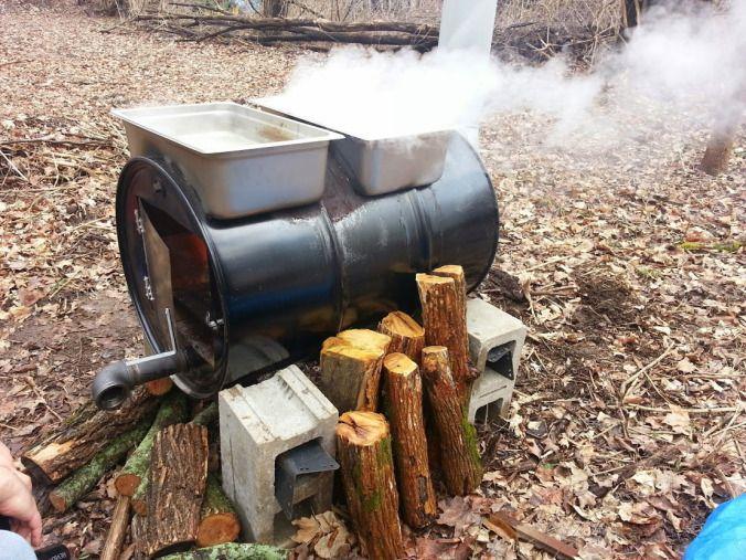 Evaporator In Action | Maple syrup evaporator, 55 gallon ...