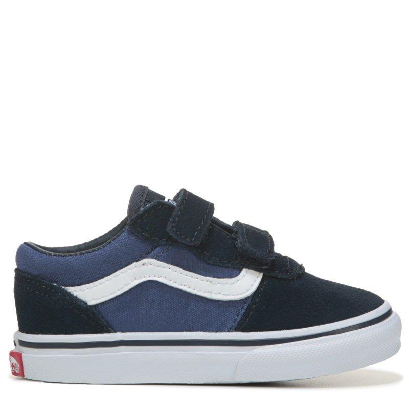 b1d7ebe7a1 Vans Kids  Milton Sneaker Toddler Shoes (Blue White) - 8.0 M