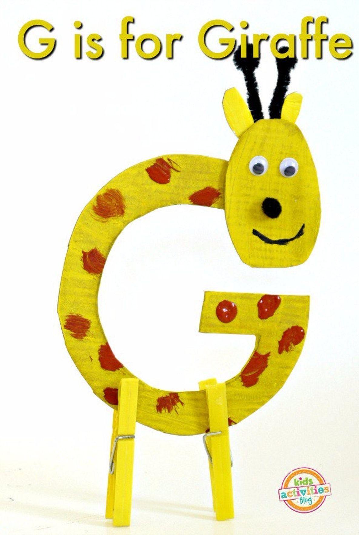 Letter G Craft G Is For Giraffe