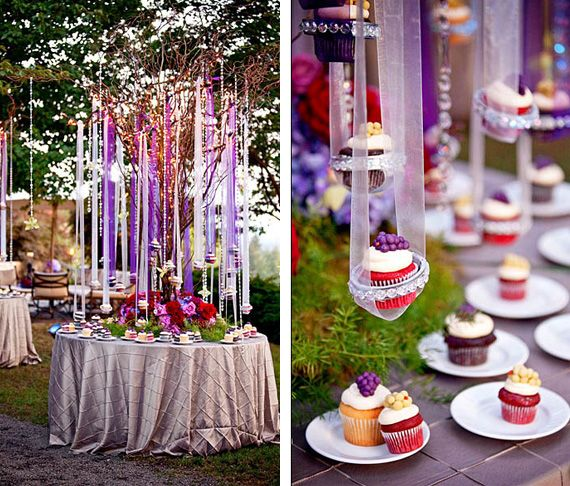 OH GOOD GOD. Cupcake Display -- because i just HAPPEN to have SUSPENDED CUPCAKES as my wedding motif? #idoknot