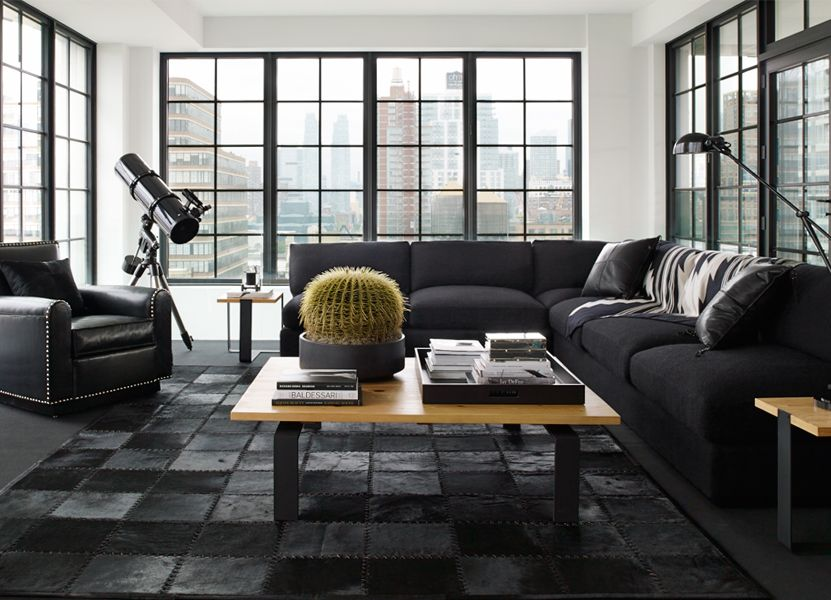 The Downtown Modern Collection For Urban Environments Mixes Leather Wood And Steel Photo Courtesy Of Ralph Lauren Home Home Decor Home Interior Design