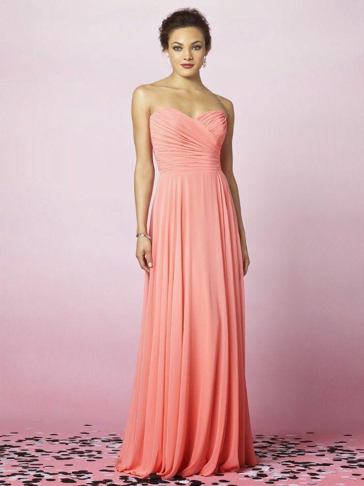 Atractivos diseños de vestidos de damas de honor | Damas | Pinterest ...