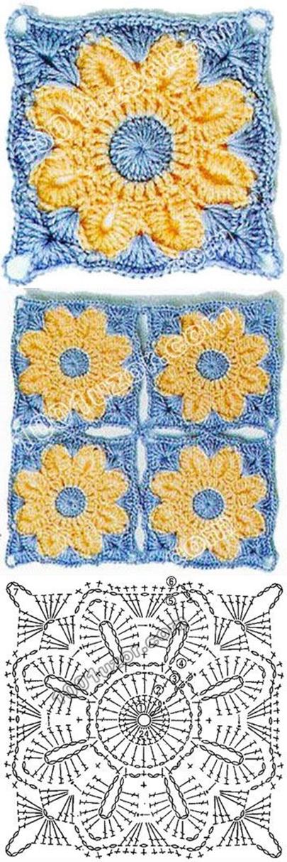 Contemporáneo Abuela Margarita Patrón De Crochet Cuadrado ...