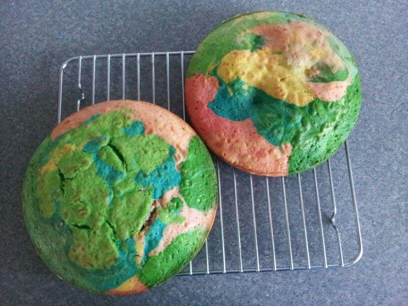 Rainbow Sponge Cakes