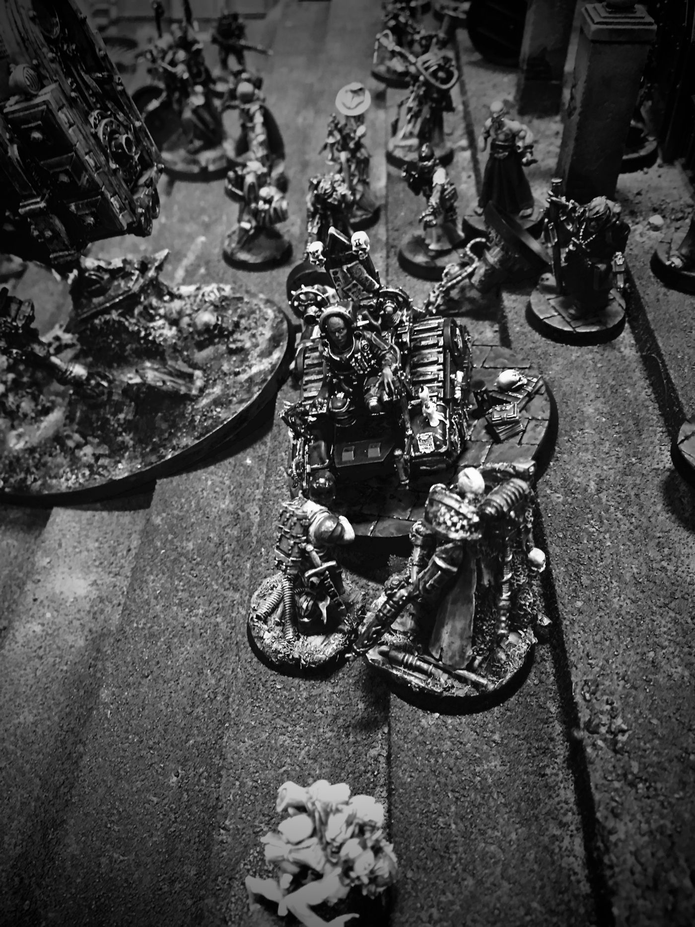 + The Sentinel has made his way up to look after the new born, Astartes instincts recognizing the young ones importance through void shields and mass of bodies. With the Blazing Angel of war gone, the Red Church attacks the worn out Vogtemanne +