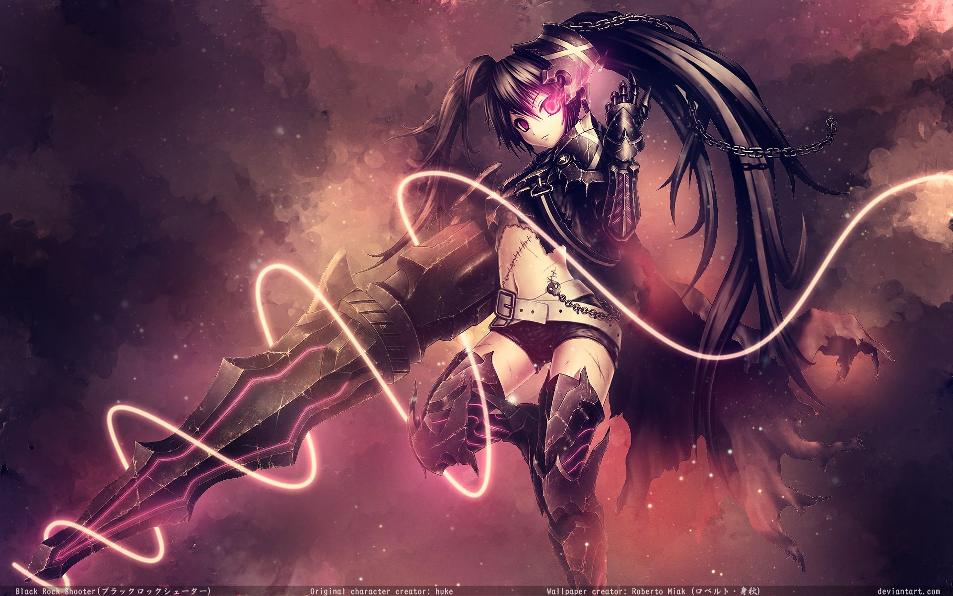 Wallpapers De Anime Full Hd Parte 1 1080p Megapost Taringa Black Rock Shooter Black Rock Anime Wallpaper