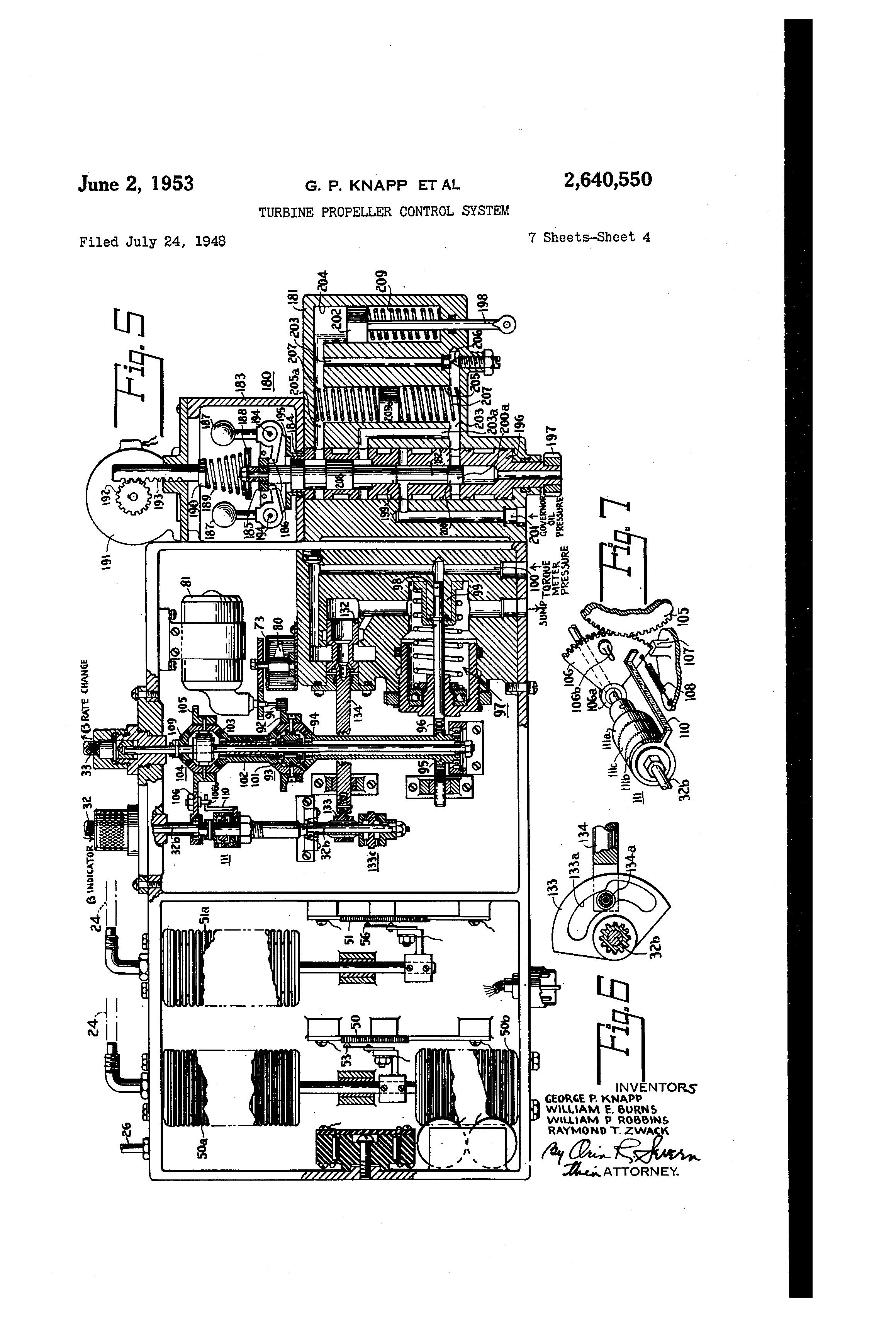 Patent US2640550 - Turbine propeller control system - Google Patents