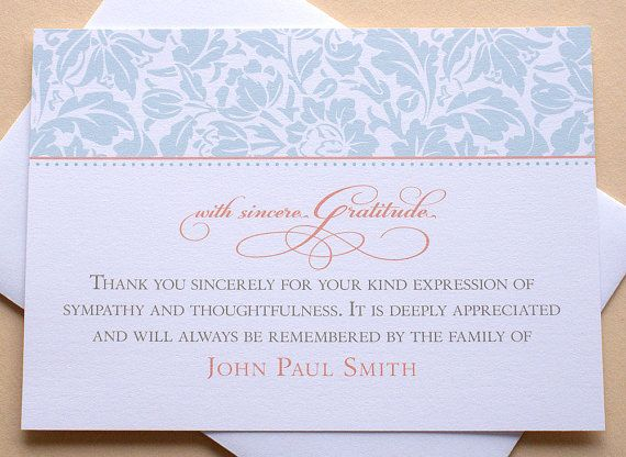 Let me create a custom sympathy thank you card for you The last