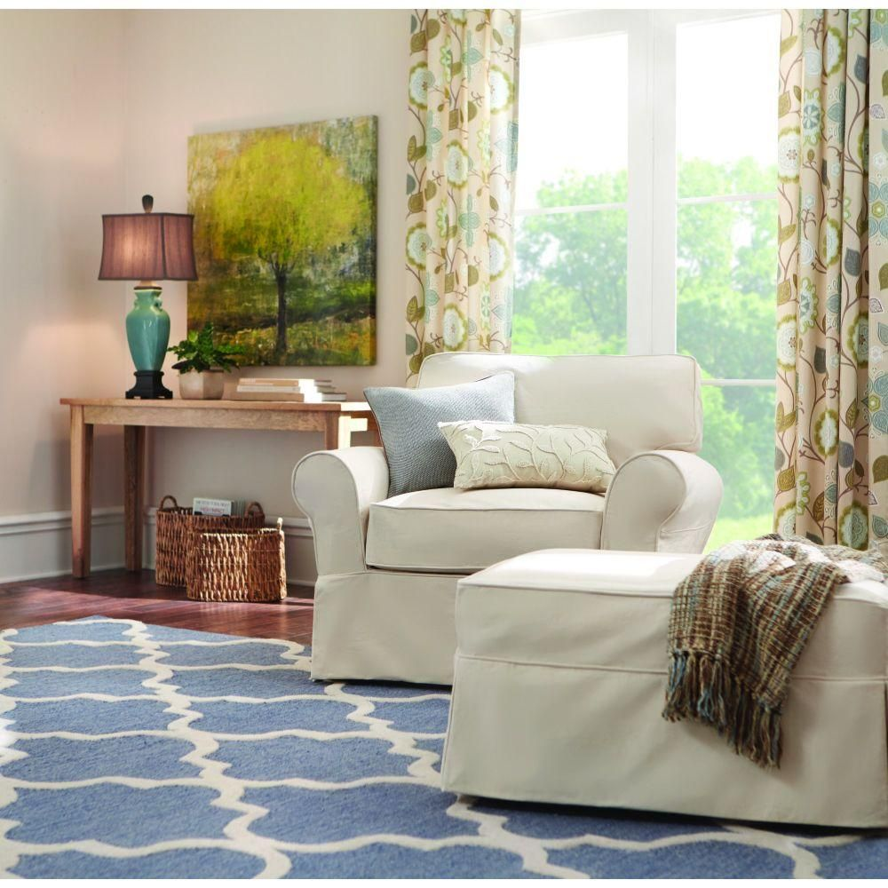 Home decorators collection mayfair classic natural fabric arm chair