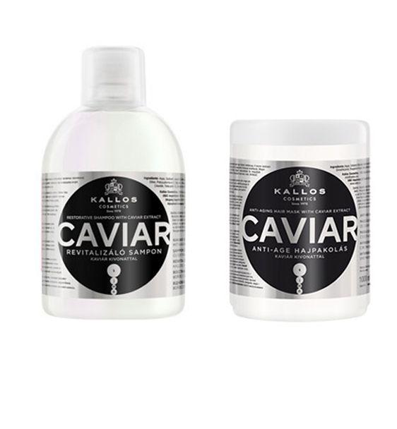 Kallos Caviar Restorative Shampoo + Hair Mask 1000ml  http://hairbeautycorner.gr/κατάστημα/kallos-caviar-restorative-shampoo-hair-mask-1000ml/