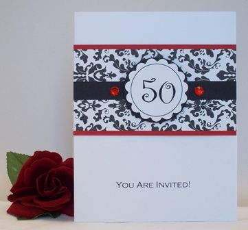 50th Birthday Party Invitations Lots Unique Handmade Card Ideas