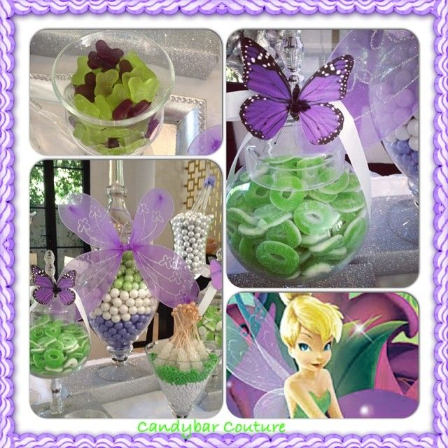 #tinkerbell #candybar complete with #butterflies and # ...