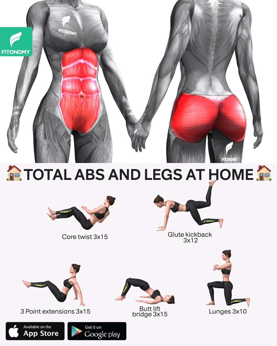 TOTAL ABS AND LEGS AT HOME