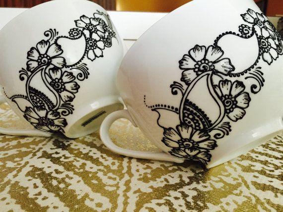 CAPPUCCINO-Tasse Zweiergruppe mit von HartsHennaArtistry auf Etsy