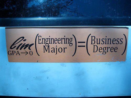 Engineering humor , no hard feelings business students