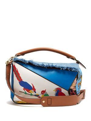 X Paula S Ibiza Puzzle Patchwork Bag Loewe Matchesfashion Com Uk