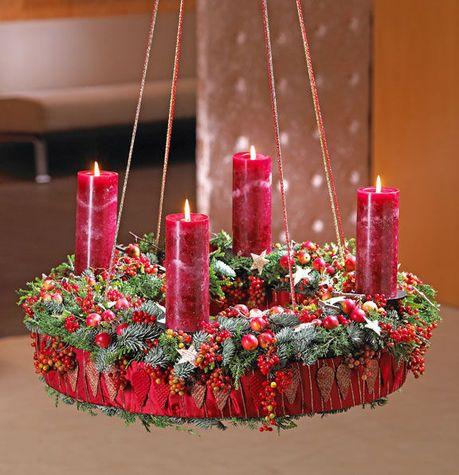 h ngender adventskranz weihnachten kreativ pinterest kr nze weihnachten und. Black Bedroom Furniture Sets. Home Design Ideas