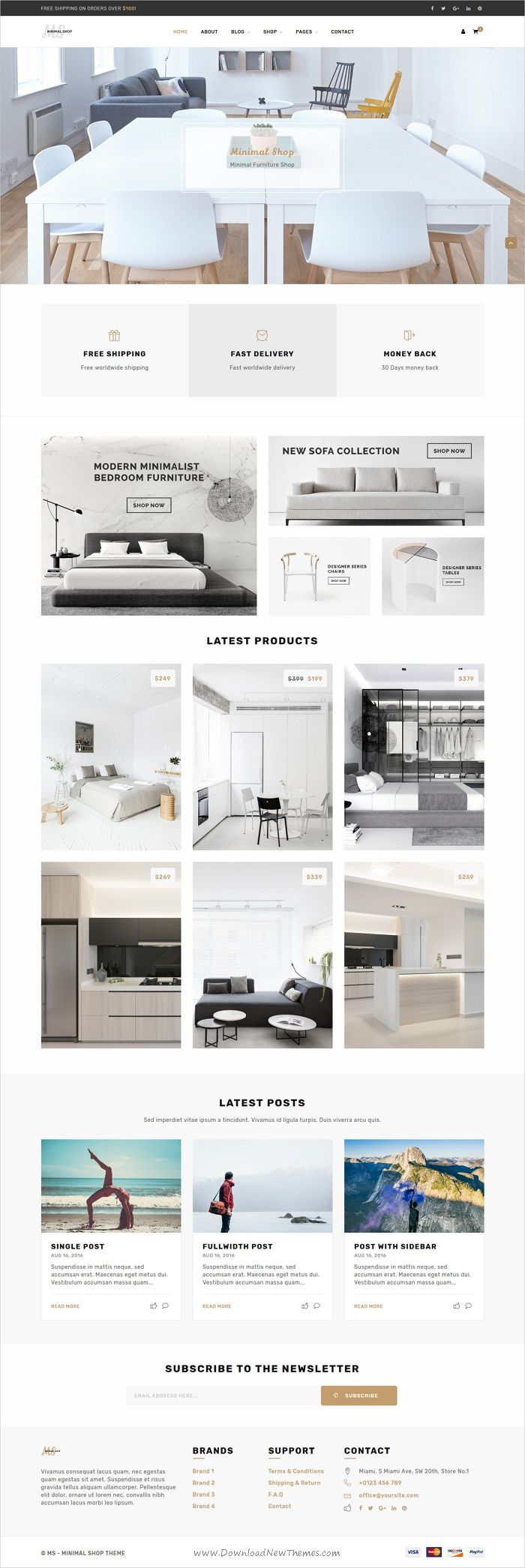 ms is an beautiful and functional design html bootstrap template for furniture shop - Beautiful Furniture Websites