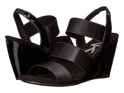 Womens Sandals Anne Klein Taree Black Multi Fabric