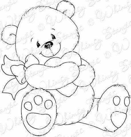 Osita Corazon Con Imagenes Moldes De Dibujos Dibujos Para