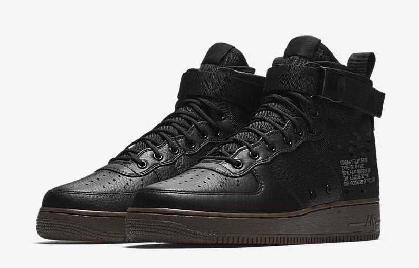 3466c900309d38 NIKE SF AIR FORCE 1 MID MENS SHOES 917753-002 BLACK BLACK-DARK HAZEL   fashion  clothing  shoes  accessories  mensshoes  athleticshoes (ebay link)