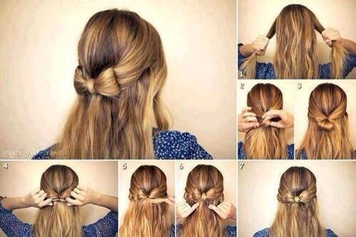 Lots Of Different Cute Hairstyles Bow Hairstyle Thick Hair Styles Medium Hair Styles