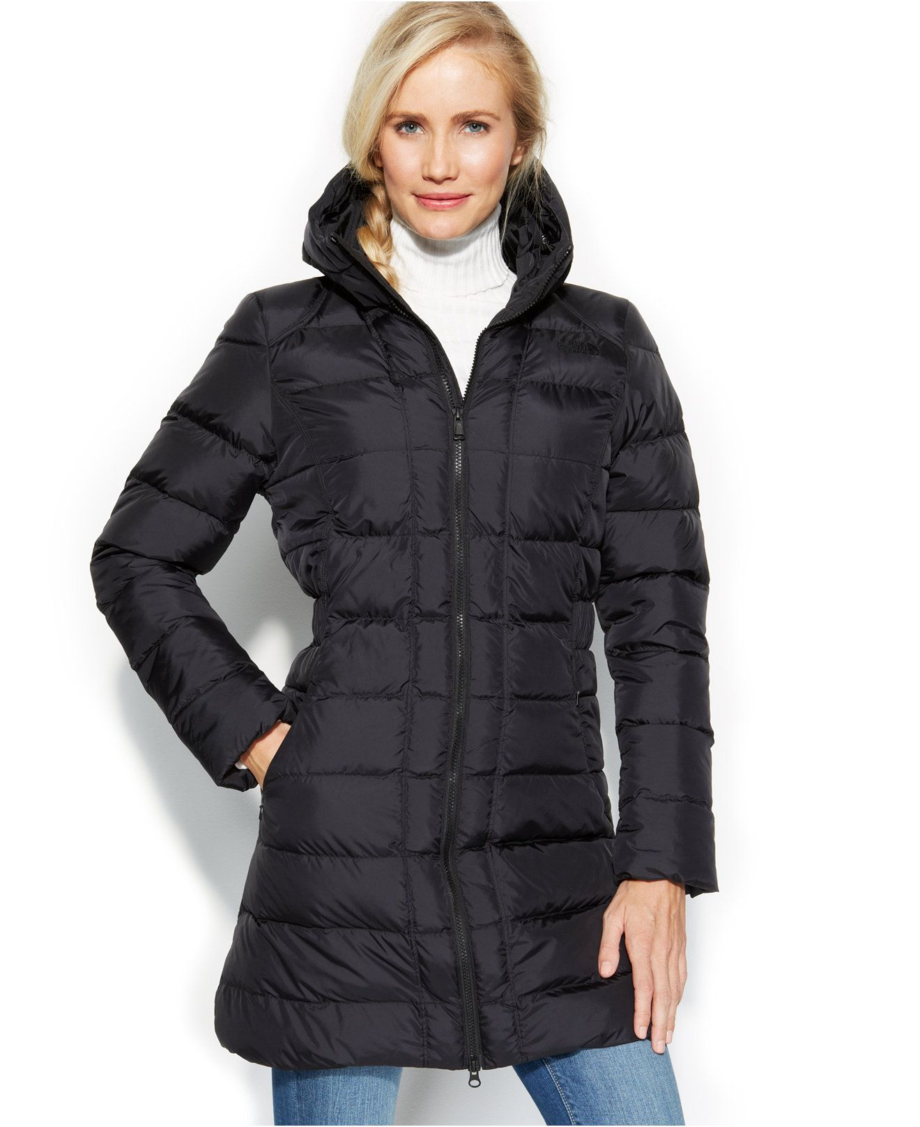 The North Face Gotham Full-Zip Down Parka - Coats - Women - Macy's ...