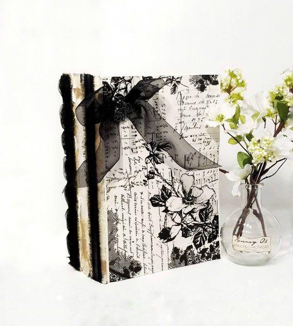 Black Book Bundle, White Book Decor, Goth Decor, Gothic Decor, Gothic Home Decor, Dark Victorian Dec #gothichome