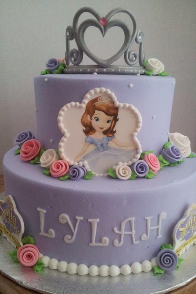 sofia the 1st birthday cake   Sofia the First birthday cake!   Princess Sofia Cakes/Party Ideas