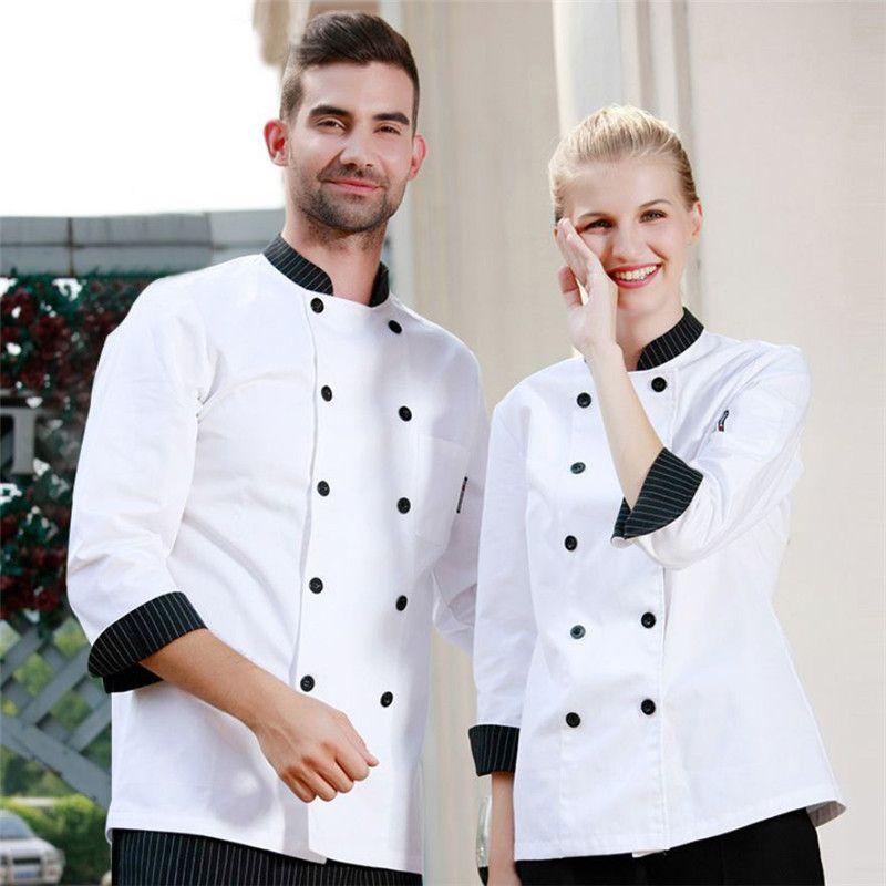 Wholesale Retail Checkedout Custom Logo Solid Chef Uniform