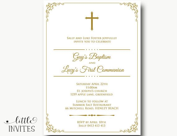 Invitation to Communion Card Thanksgiving Table Cards Guest Gifts