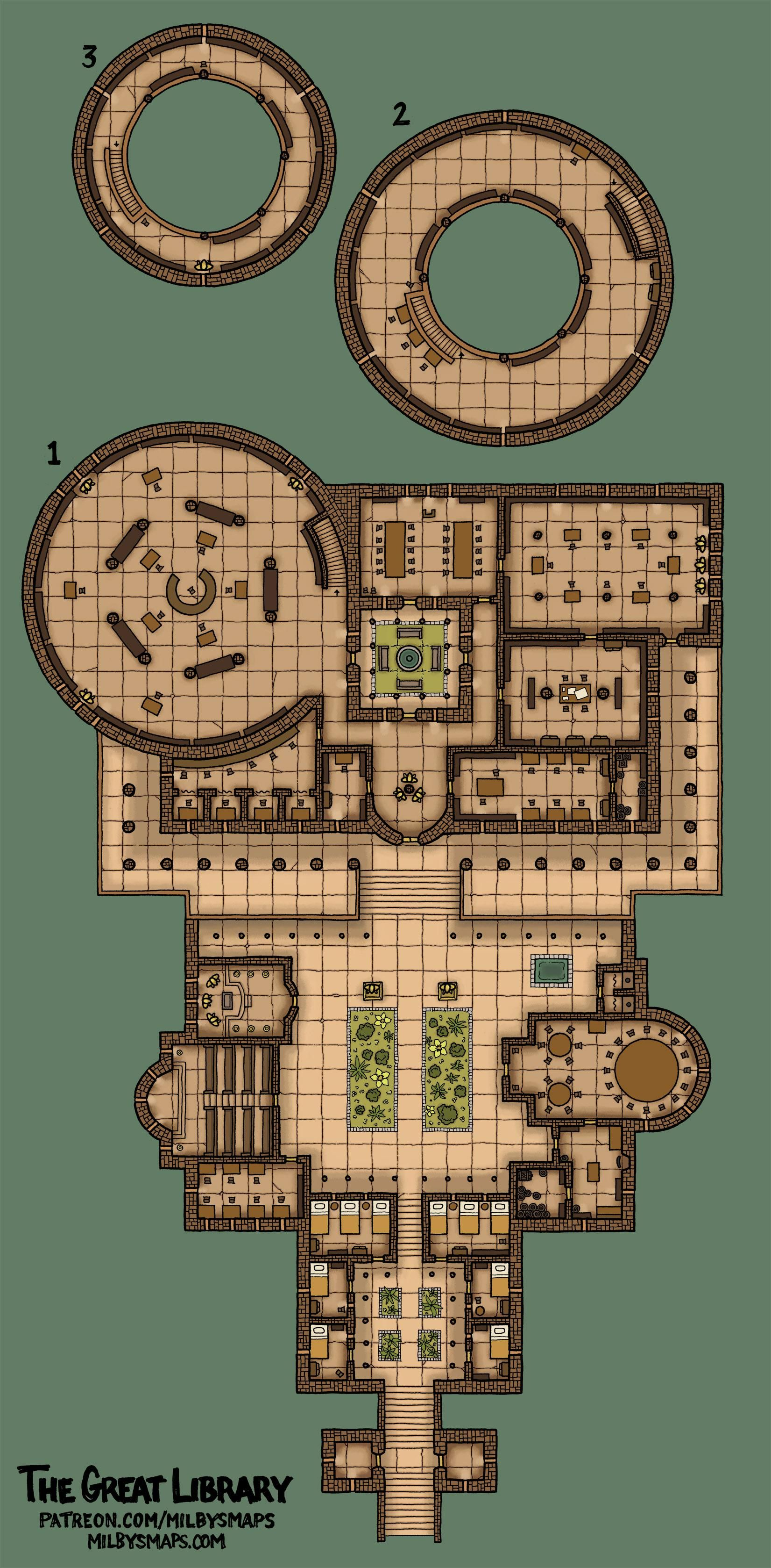 The Great Library A Map Inspired By The Ancient Library Of