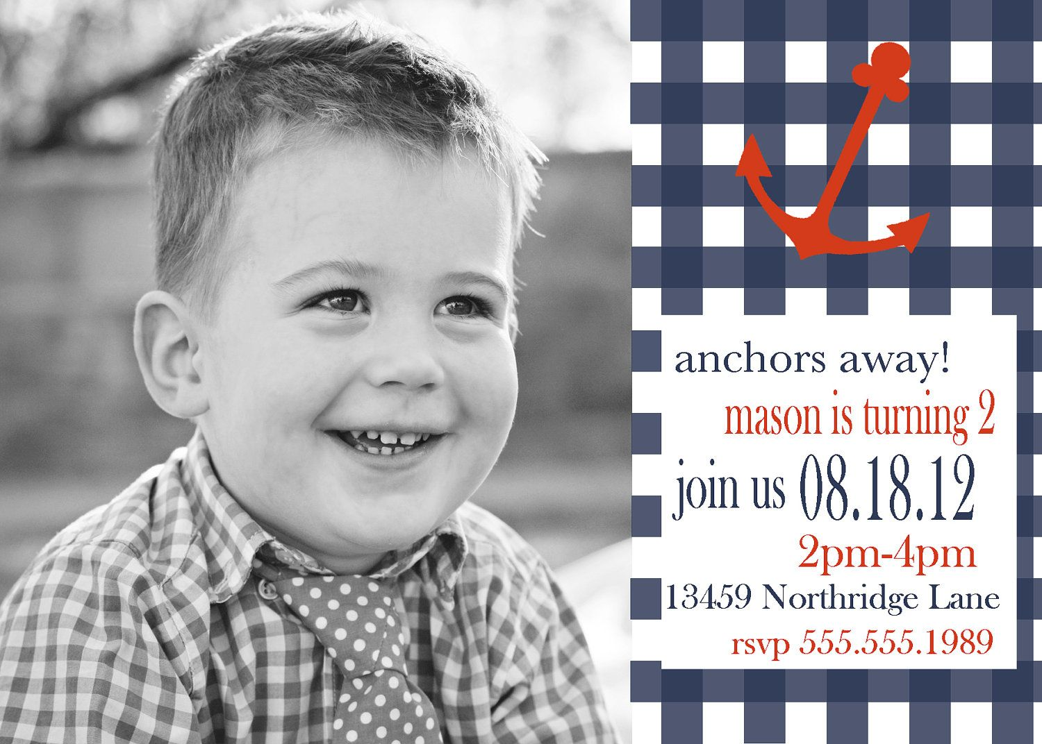Nautical First Birthday invitation | First Birthday Ideas ...