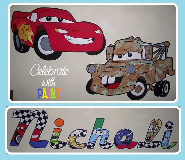 Cars Themed Bedroom Decorations! Individual Character Letters U0026 Cutouts! Lightning  McQueen, Tow Mater