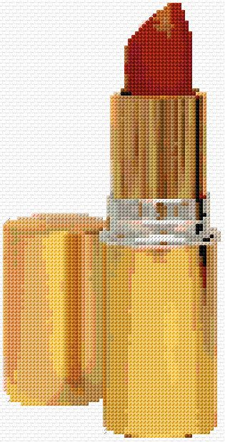 Cross Stitch | Lipstick xstitch Chart | Design
