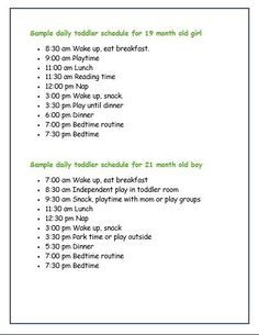 Sample Daily Toddler Schedules From Real Moms