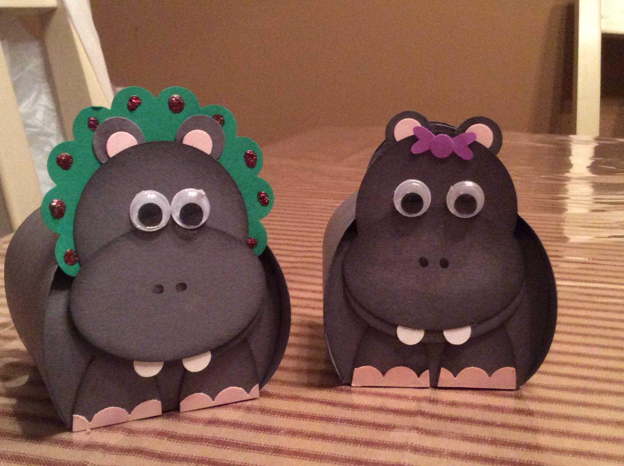 Christmas Hippos  - Curvy Keepsake Box 2014