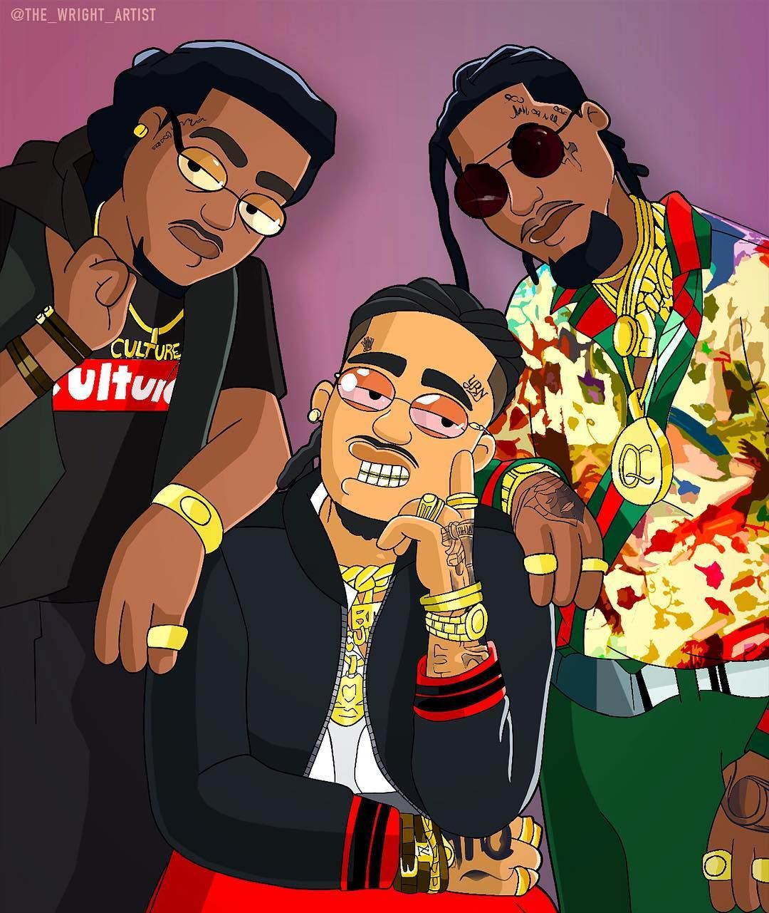 A Z Cartoon Characters Rap : Migos family guy style comikz comedy art pinterest