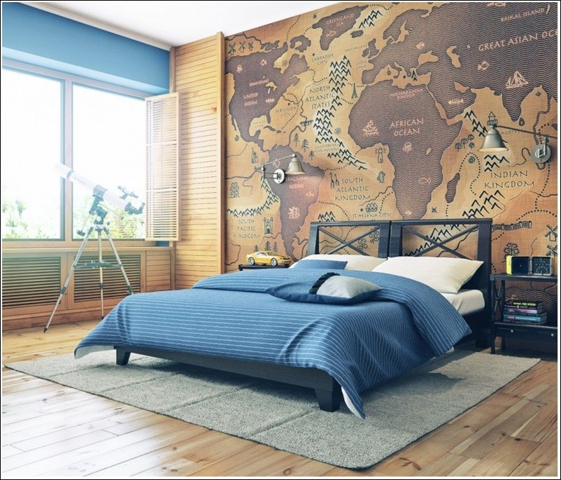 Cool Interior Decorating With Maps For Your Home Bedrooms