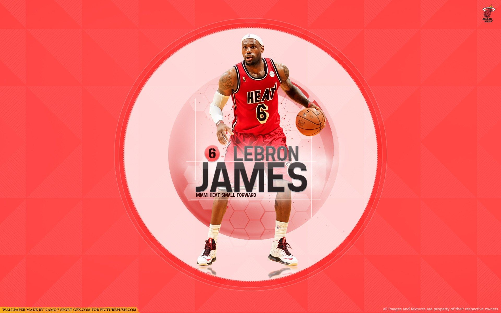 lebron james miami heat wallpapers download free