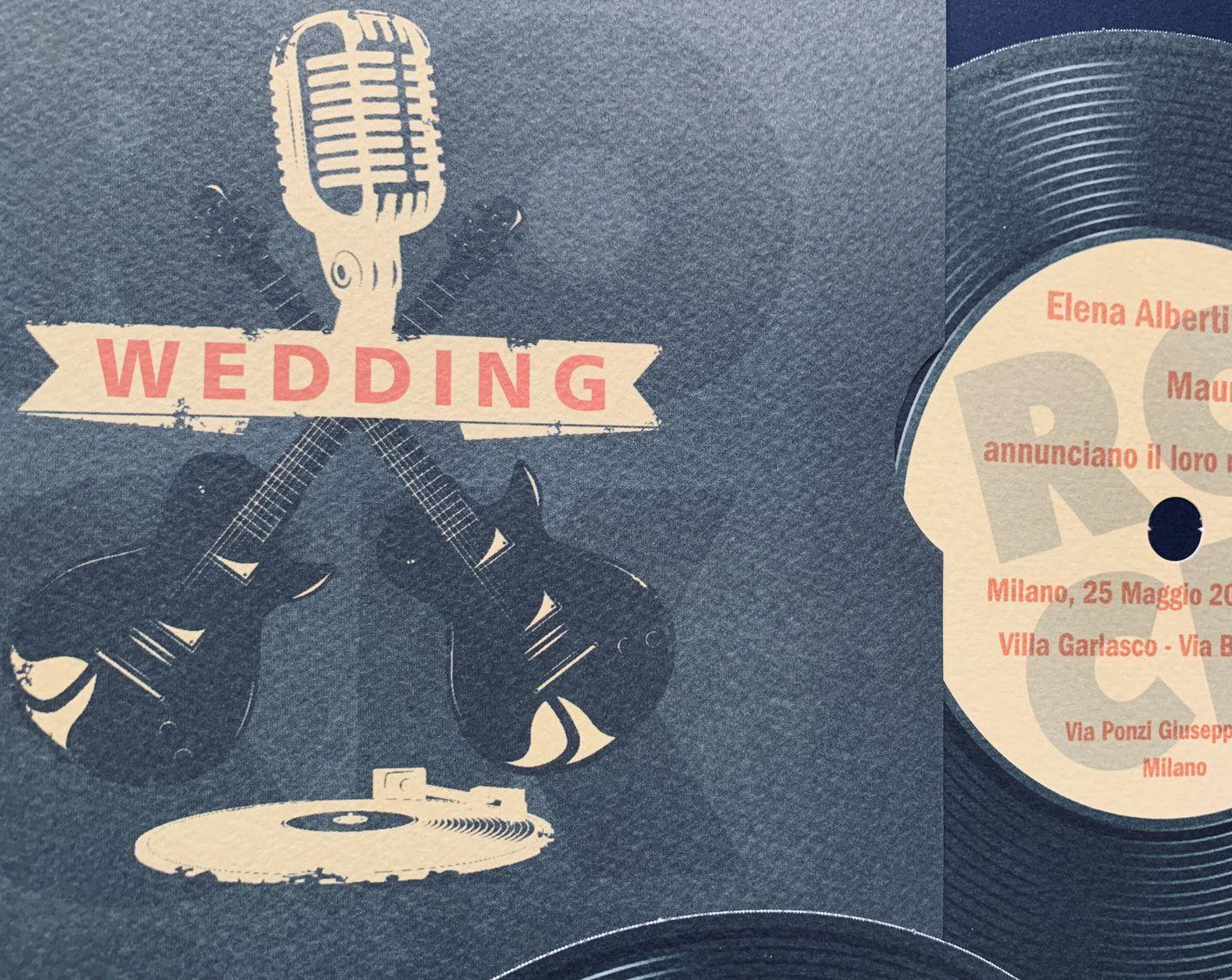 Partecipazioni Matrimonio Rock.Partecipazioni Matrimonio Rock N Roll Disco Vinile