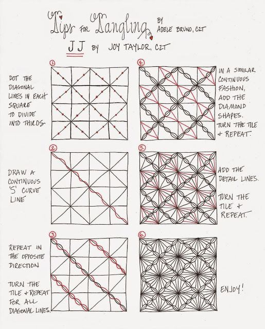 Tickled To Tangle: Pattern Tutorial