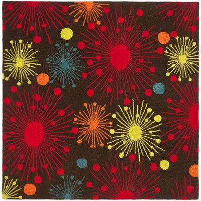 Safavieh Soho Brown Fireworks Area Rug Rug Size: