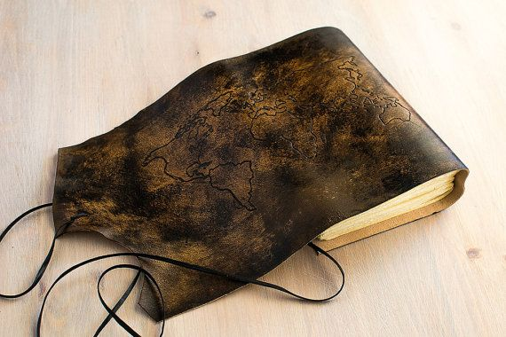 World map travel journal leather traveler notebook adventure world map travel journal leather traveler notebook adventure journal personalized made to order in gumiabroncs Choice Image