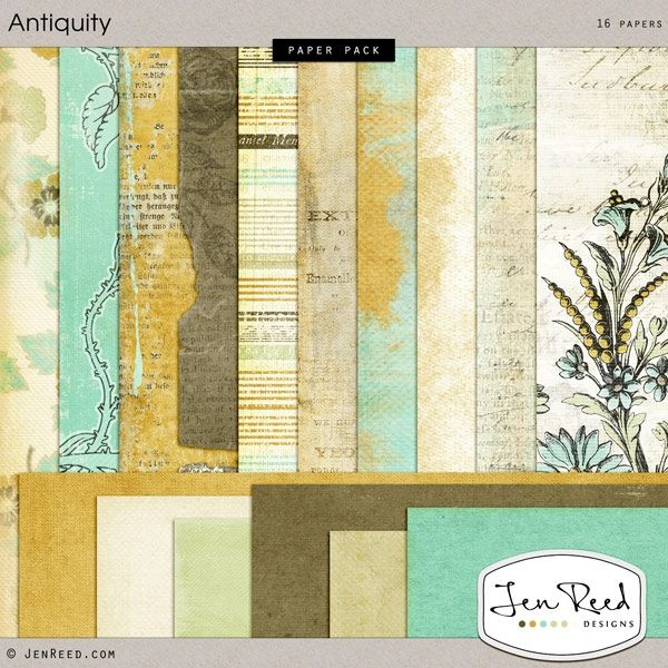 Antiquity Paper Pack :: Papers :: Memory Scraps