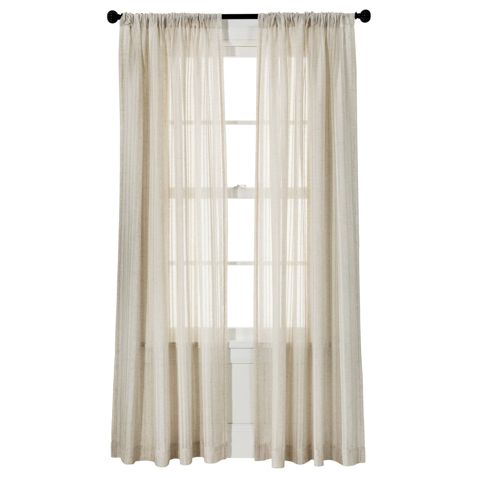 Leno Weave Sheer Curtain Panel Ivory 54 X84 Threshold