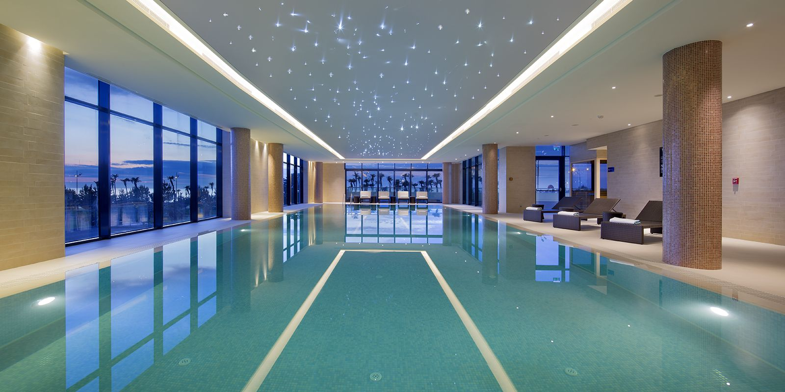 Hilton Batumi Georgia Spa Pool Lighting by Elektra Lighting