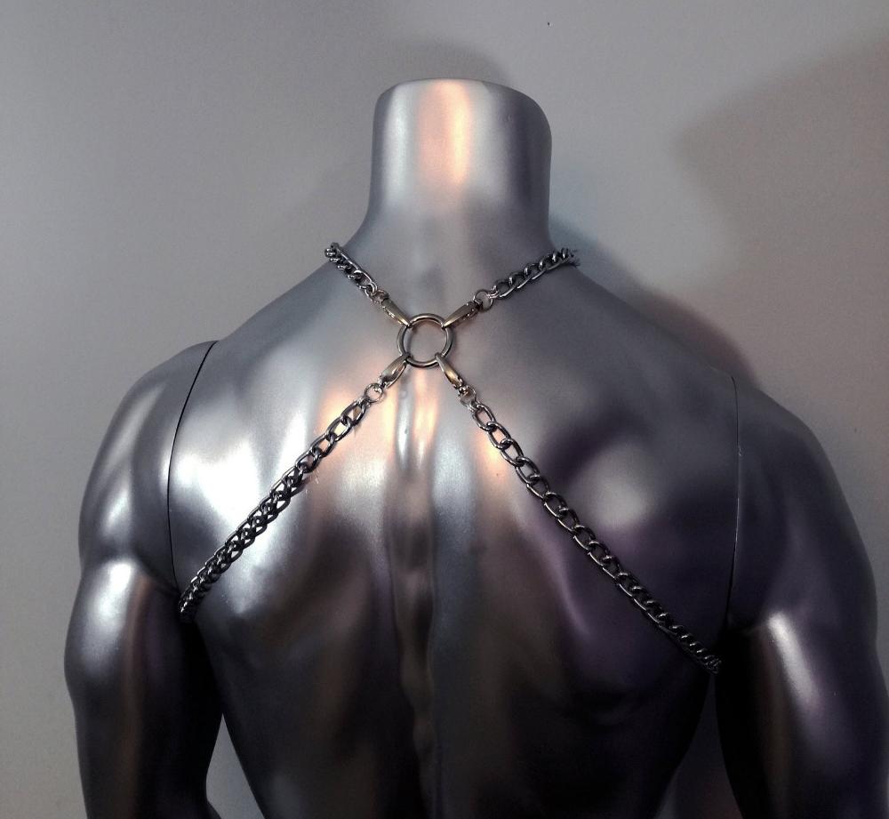 Chain Body Harness Handmade unisex body harness Stainless Steel Metal Dream catcher harness